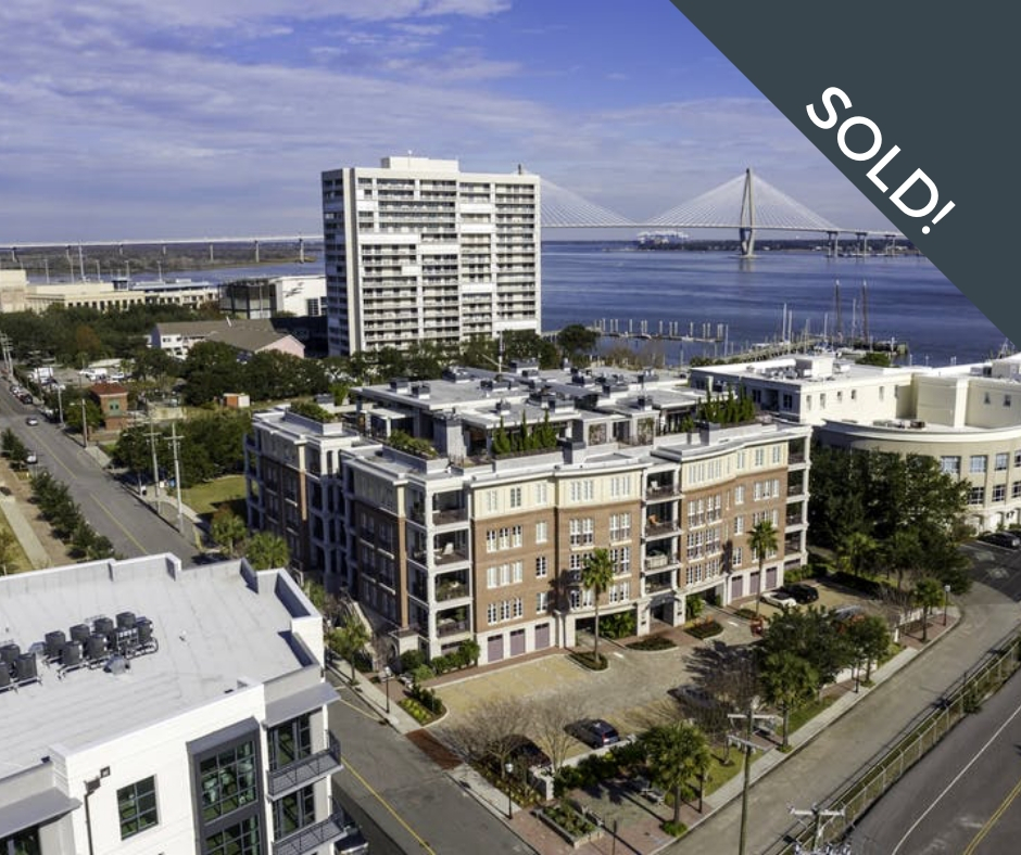 Penthouse with views of Charleston Harbor