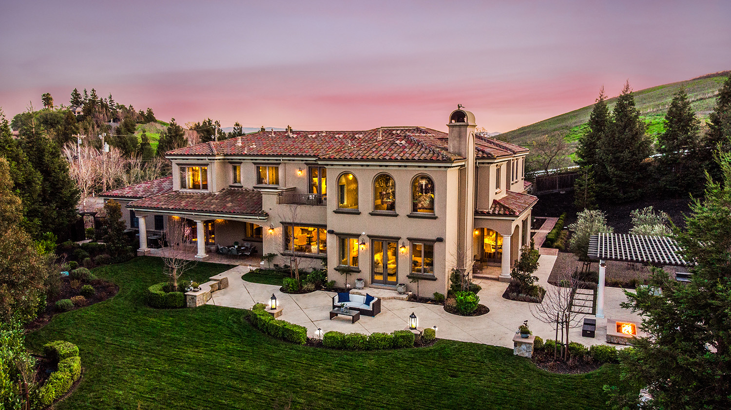 Gorgeous Custom-Built Mediterranean Estate with Views!